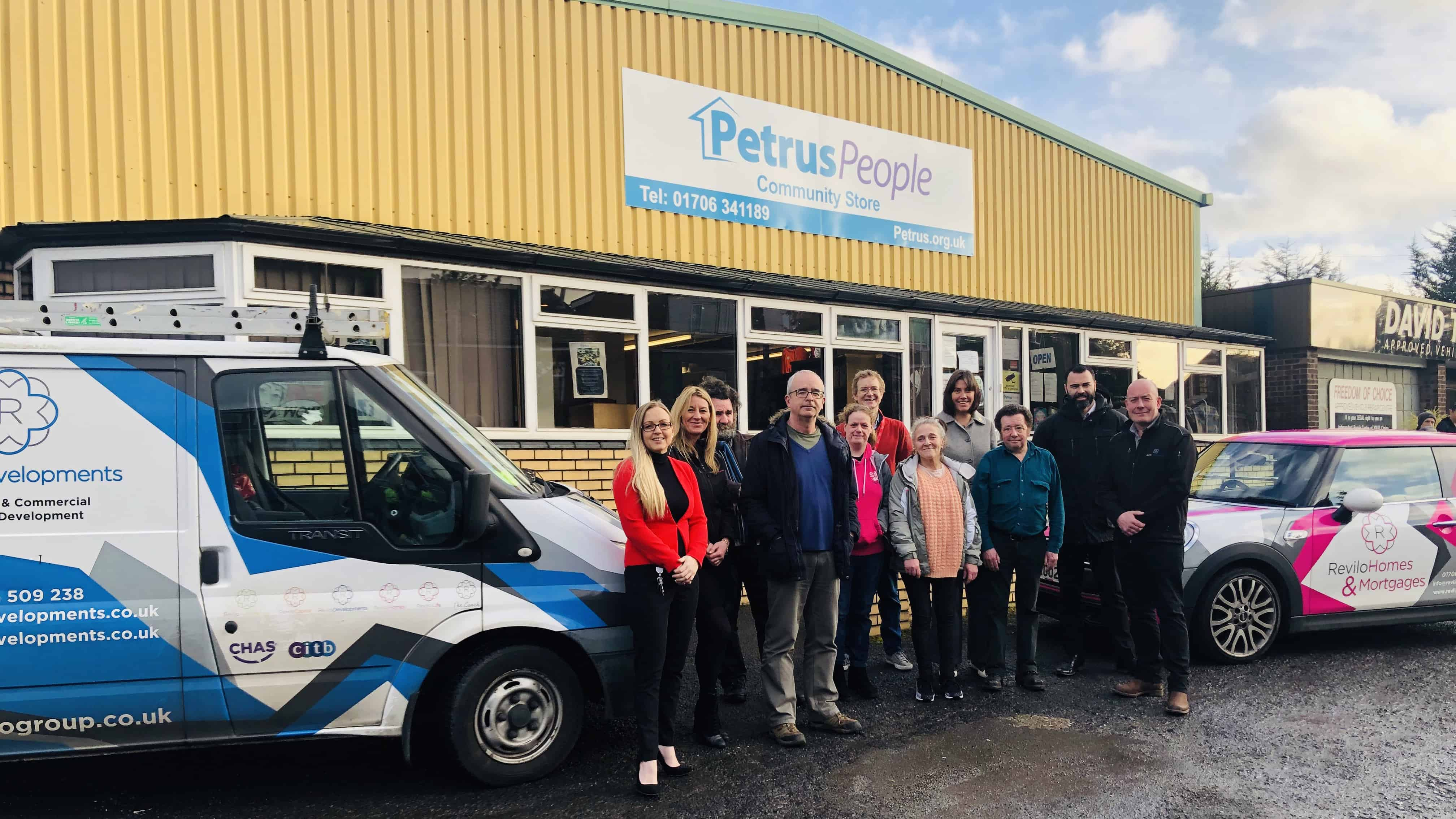 Revilo at the Petrus Store to deliver items